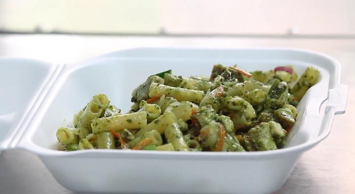 """Pasta confeccionada por el """"food truck"""" High Kitchen. (Suministrada)"""