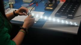 Lámparas LED creadas por los estudiantes del RUM (Archivo).