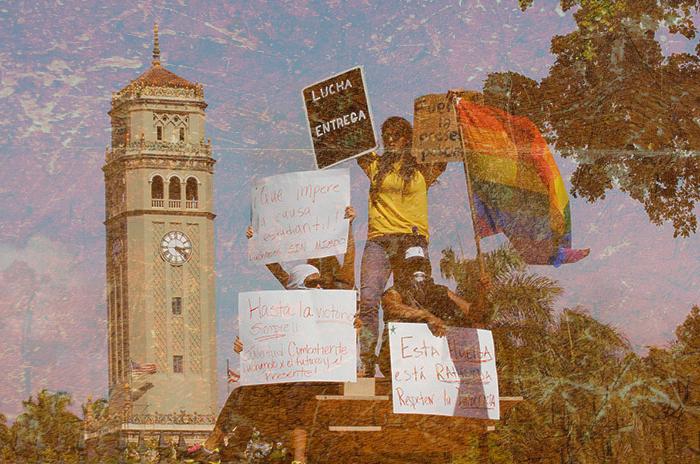 Estudiantes en huelga. 14 mayo 2010.
