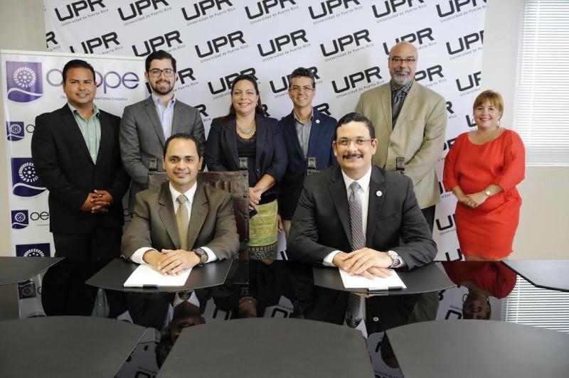 El convenio establece que la OEPPE podrá utilizar los recursos de la UPR a través de INESI para cumplir con su mandato de ley de mantenerse actualizada en tendencias globales y adelantos tecnológicos, y realizar estudios e investigaciones sobre la generación de energía. (Suministrada)l