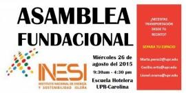 INESI te invita a su Asamblea Fundacional este miércoles a las 9:30 a.m. hasta las 4:30 a.m. (Suministrada)
