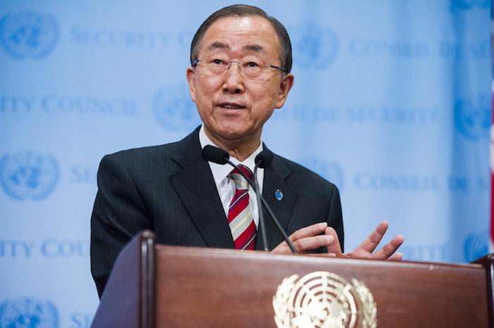 El Secretario General de la Organización de las Naciones Unidas (ONU),Ban Ki-moon (Suministrada)