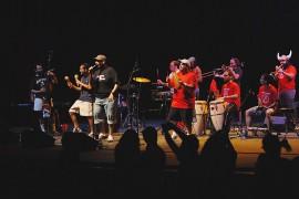Orquesta La Macabeo en el Teatro de la UPR, en un concierto de fin de semestre/10 de mayo 2011 (Ricardo Alcaraz/ Diálogo)