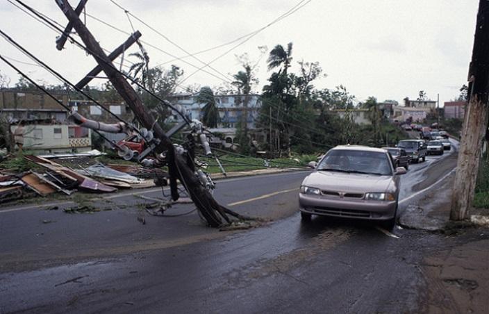 En la imagen, vemos parte del daño que la diosa taína Guabancex dejó en Borinquen tras el embiste del huracán Georges, en 1998. (Ricardo Alcaraz Díaz / Diálogo)