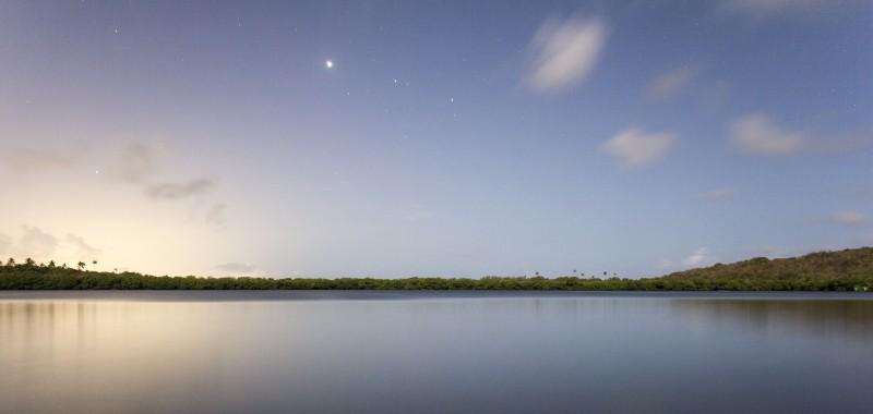 La Laguna Grande de Fajardo es uno de los pocos lugares del mundo donde hay bioluminiscencia durante todo el año. (Foto por Solansh Mitchell)
