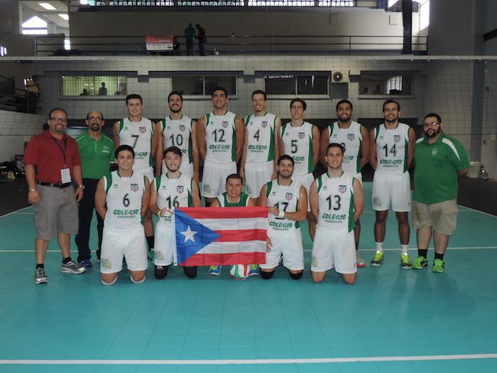 Los Tarzanes del Colegio ganaron oro en el voleibol masculino. (Suministrada LAI)