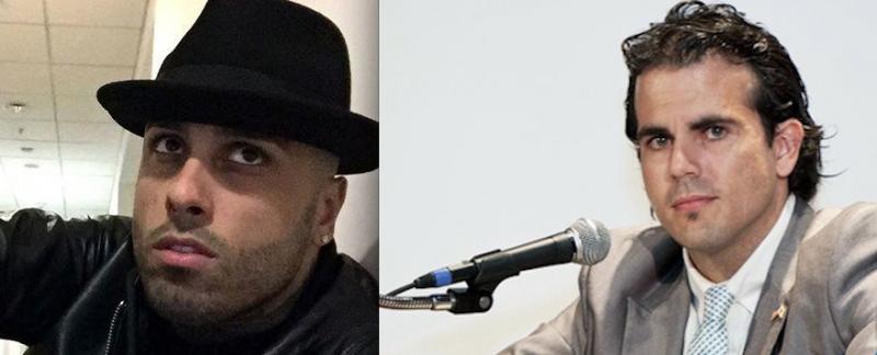 Nicky Jam y Ricardo Roselló.