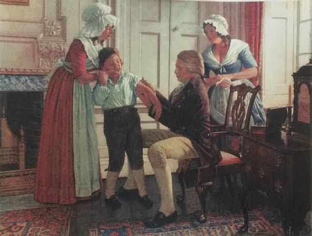 La exhibición es una de dos series que compone Great Moments, una colección del artista, Robert Thom, que se creó a mitad del siglo XX bajo la comisión de la casa farmacéutica Parke, Davis & Co. (Suministrada)