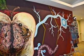 """Ricardo Sánchez fue uno de los nueve artistas que colaboró en """"Los muros de la Uni"""". (Suministrada)"""