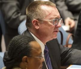 El secretario general adjunto de la ONU para Asuntos Políticos, Jeffrey Feltman. Foto: ONU/Mark Garten.