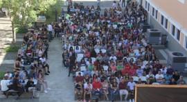 Estudiantes de nuevo ingreso de la UPR en Utuado. (Suministrada)