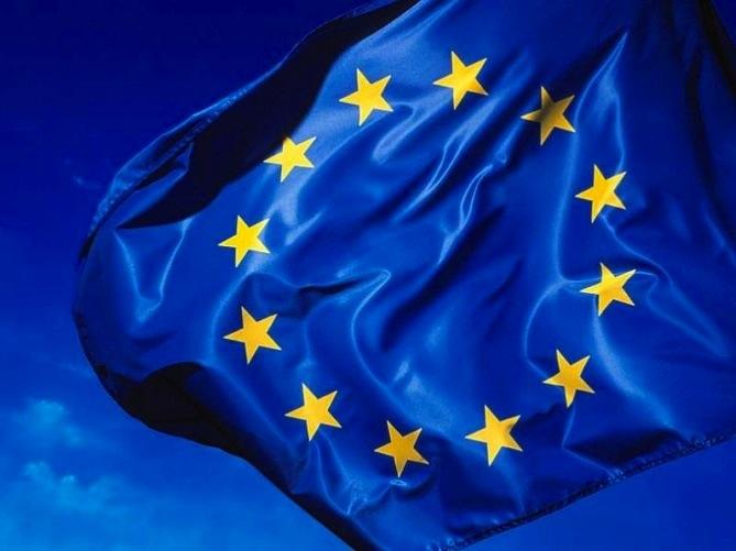 Bandera de la Unión Europea. (Suministrada)