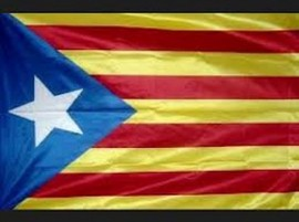 """""""Nueva"""" bandera propuesta para una Cataluña independiente. Crédito: Dominio público"""