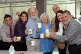 Equipo de Un Café por el Alzheimer. (Suministrada)