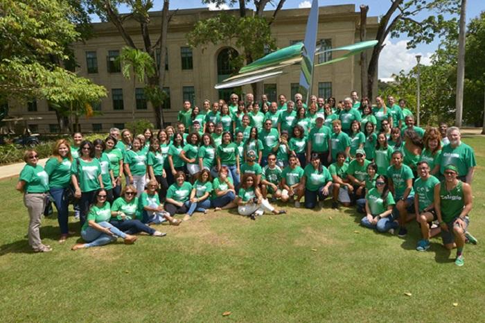 El Recinto Universitario de Mayagüez (RUM) celebró por primera vez en su historia el Día de la Sangre Verde, como preámbulo al RUMEncuentro Colegial 2015. (Suministrada)