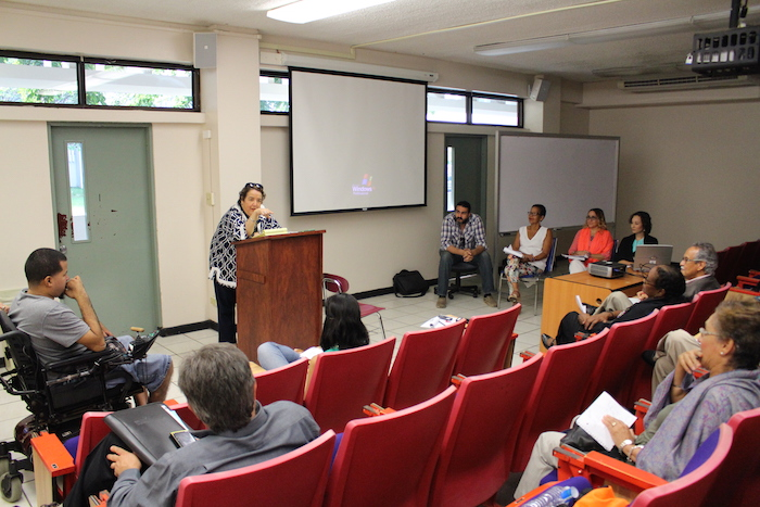 El conversatorio fue organizado por la Escuela Graduada de Trabajo Social Beatríz Lasalle de la UPRRP. (Ronald Ávila/Diálogo)