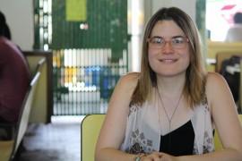 Paola Zaragoza, estudiante de derechos de la UPR-RP quien creó un blog gastronómicos para personas con dietas libres de gluten y lactosa. (Michelle Estades)