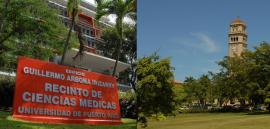 Recinto de Ciencias Médicas y UPR Río Piedras. (Fotomontaje:Glorimar Velázquez/ Diálogo)