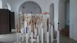 La exhibición muestra la larga investiagación a cargo del artista puertorriqueño. (Antonella Vega / Diálogo)