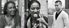 Desde la izquierda Mayra Santos, Rey Andújar y Myriam Chancy como exponentes de la conferencia. (Suministrada)