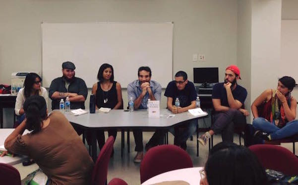 Desde la izquierda: Aisha, Sergio, Adriana, Guillermo, Vladimir, José G. y Verónica. (Paula María Arribas / Facebook)