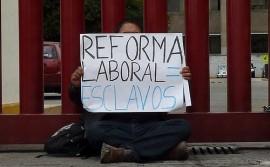 Rechazo a la reforma laboral. (Suministrada)
