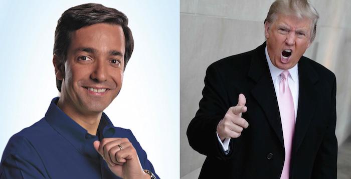 El exgobernador Luis Fortuño y el precandidato a la presidencia de Estados Unidos por el Partido Republicano, Donald Trump. (Adriana De Jesús Salamán / Diálogo)