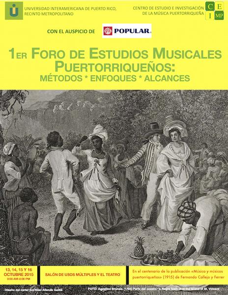 Promoción del 1er Foro de música puertorriqueña. (Suministrada)