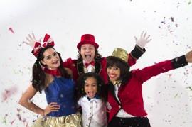 Elenco de Circolandia TV. Desde la izquierda, Luna, Tico, Estrella y Nina. (Suministrada)