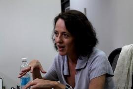 La escritora participó de una serie de actividades sobre literatura y cultura españolas actuales en el recinto riopedrense de la Universidad de Puerto Rico este mes. (Adriana De Jesús Salamán / Diálogo)