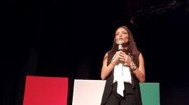 Alexandra Lúgaro en la UPR Cayey. (Suministrada)