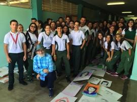 Martorell y estudiantes de UPR Cayey Preparatory High School. (Suministrada)