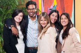 Los Co-fundadores ConPRmetidos. Desde la izquierda, Cristina Sumaza, Miguel Columna, Natalie Trigo, Ciara Nápoli e Isabel Rullán. (Suministrada)