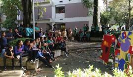 La presentación de las canciones tuvo lugar en el Anfiteatro de la Facultad de Ciencias Naturales de la UPR-RP. (Suministrada)
