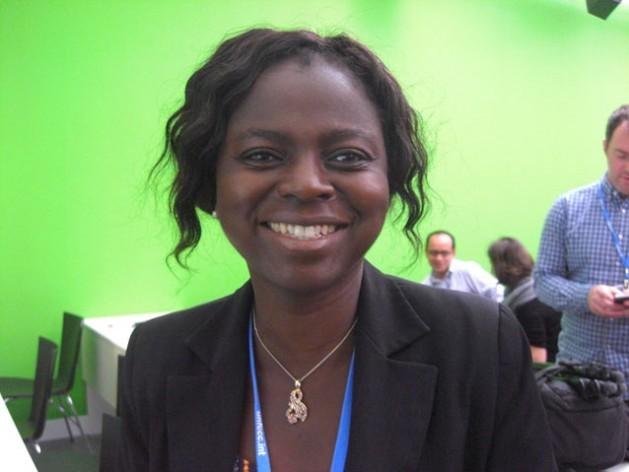 Evelyn Nguleka, presidenta de la Organización Mundial de Agricultores, aboga por la inclusión de la agricultura en la COP21. Crédito: A. McKenzie/IPS