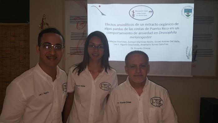 Lee Algarín, Keysh Mejías y el Dr. Ricardo Chiesa en el 2do Encuentro de Investigación, Creación y Servicio Comunitario de UPR Cayey.