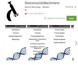 Aplicación Desconocidobacteriano. (Suministrada)