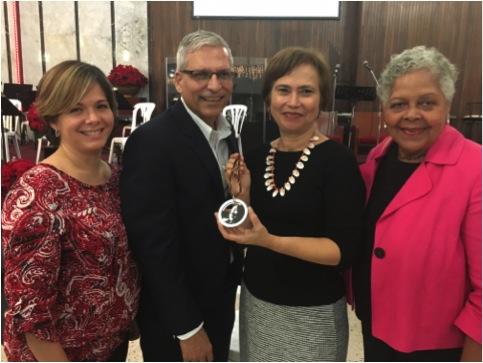 De izquierda a derecha: Nylka Muñoz, Luis Avilés, Sara Huertas e Iris Jackson (Suministrada)