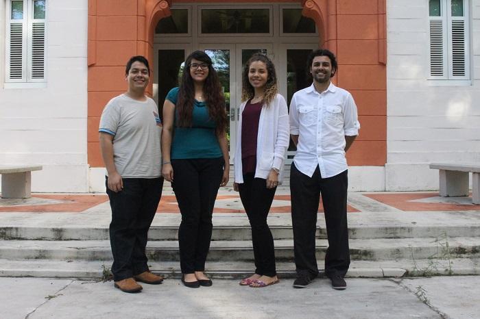 Desde la izquierda, Anthony Maldonado, Natalie Delgado, Marijulie Martínez y Alejandro Marengo. (Brian Báez / Diálogo)