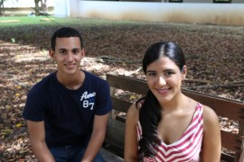 Jonathan Quiles y Ashley Valle