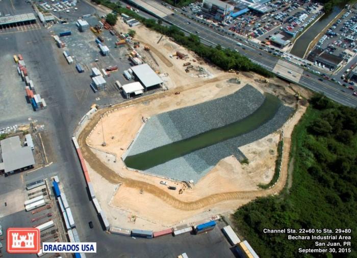 Parte del proyecto de canalizacion de Puerto Nuevo en el sector Bechara