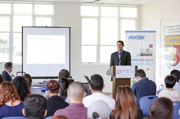 La UPR Mayagüez junto a la Fundación Amgen, realizan el primer taller de Biotecnología en la UPR en Bayamón. (Suministrada)
