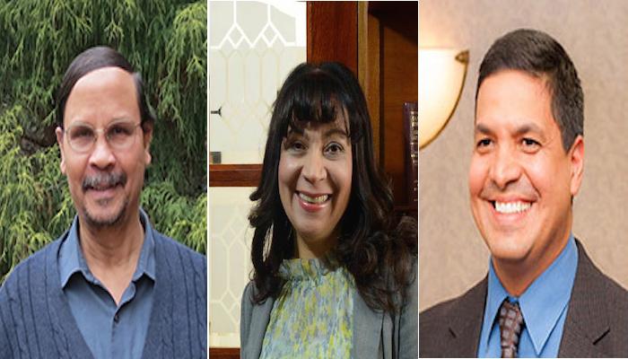 Desde la izquierda Donald Winford, Yolanda Rodríguez y Manuel Díaz, panelistas del congreso. (Suministrada)
