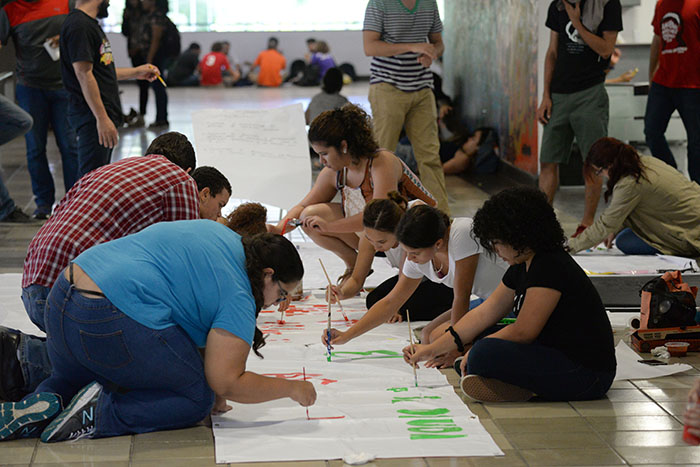 Pintata en la UPR. (Ricardo Alcaraz/ Diálogo)