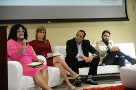 Desde la izquierda, Sandra Rodríguez Cotto, Zugey Lamela, Rafael Lenin, Oscar Serrano, Mercedes Rodríguez y Miguel Rivera Puig. (Ricardo Alcaraz / Diálogo)