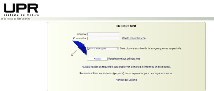 Portal UPR Retiro. (Suministrada)