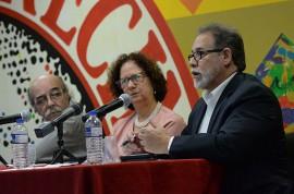 De izquierda a derecha: Francisco Velázquez, Linda Hernández y William Ramírez (Ricardo Alcaraz / Diálogo)