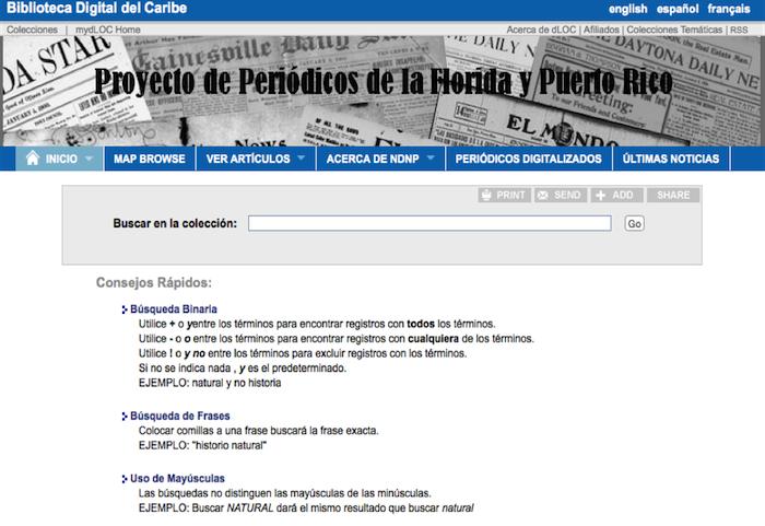 Página de periódicos digitales. (Suministrada)