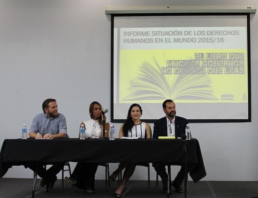 Desde la izquierda, Ruben Kondrup, Ivana Fred, la doctora Eunice Avilés y Pedro Santiago. (Antonella Vega / Diálogo)