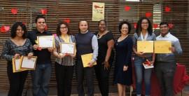 Los estudiantes que participaron del certamen. (Antonella Vega/ Diálogo)